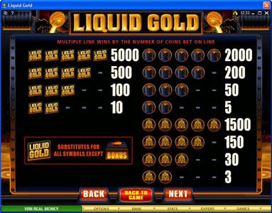 Play slots at Crystal: Crystal featuring the Video Slots Liquid Gold with a maximum payout of $500,000