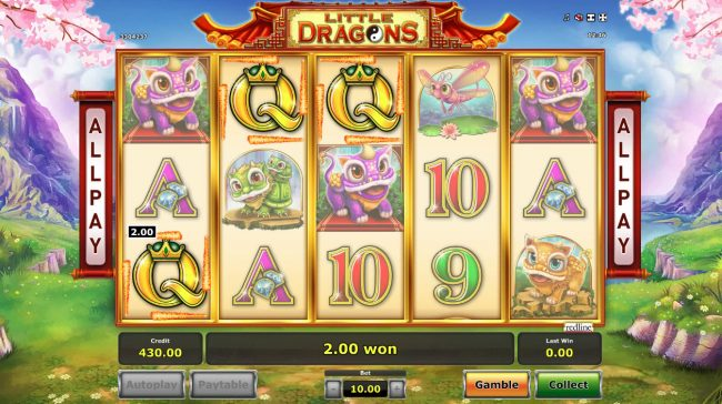 Energy featuring the Video Slots Little Dragons with a maximum payout of $500,000