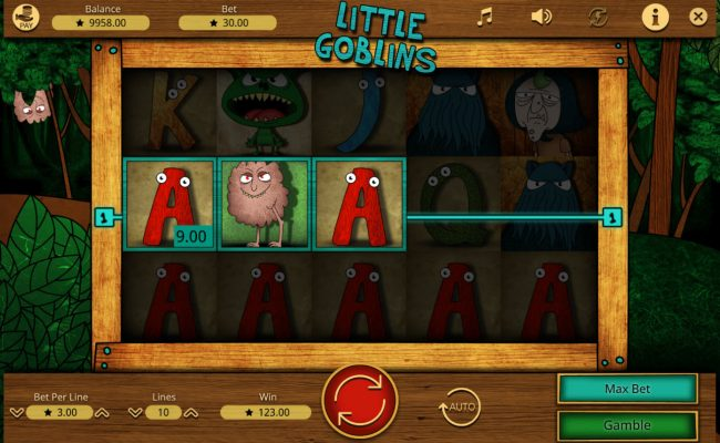 Crypto Wild featuring the Video Slots Little Goblins with a maximum payout of $15,000