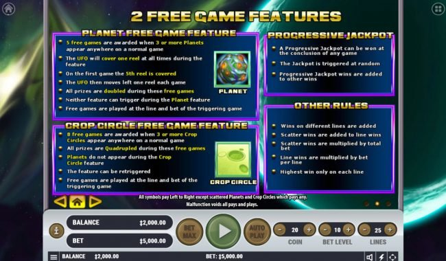 Oshi featuring the Video Slots Little Green Money with a maximum payout of $2,500,000