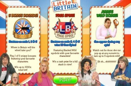 Play slots at Fly Casino: Fly Casino featuring the Video Slots Little Britain with a maximum payout of 1,000x
