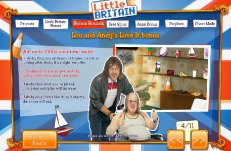 VIP Casino featuring the Video Slots Little Britain with a maximum payout of 1,000x
