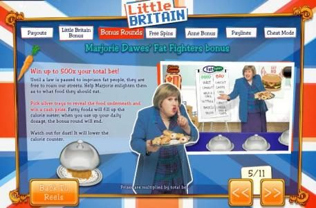 Windows Casino featuring the Video Slots Little Britain with a maximum payout of 1,000x