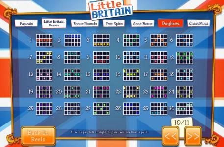 21 Nova featuring the Video Slots Little Britain with a maximum payout of 1,000x