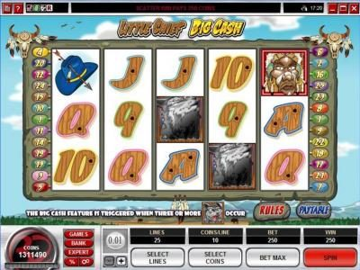 Play slots at Music Hall: Music Hall featuring the Video Slots Little Chief Big Cash with a maximum payout of $60,000