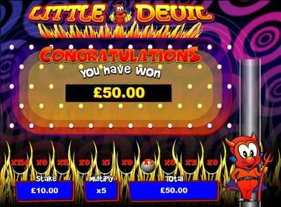 bonus feature pays out a 50 coin jackpot