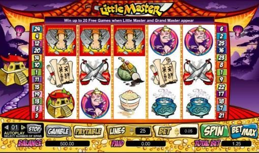 Lightbet featuring the Video Slots Little Master with a maximum payout of $100,000