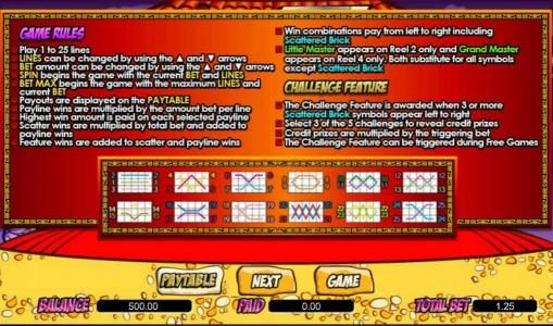 TS featuring the Video Slots Little Master with a maximum payout of $100,000