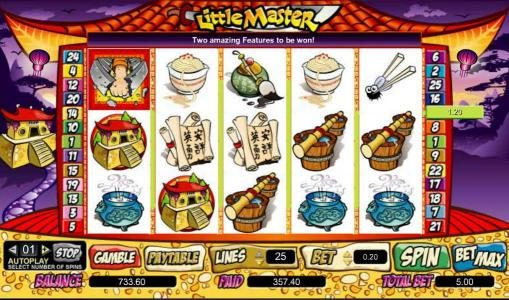 DruckGluck featuring the Video Slots Little Master with a maximum payout of $100,000