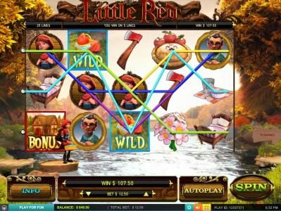 Royal Panda featuring the Video Slots Little Red with a maximum payout of $7,500