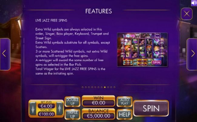 Live Jazz Free Spins Game Rules.