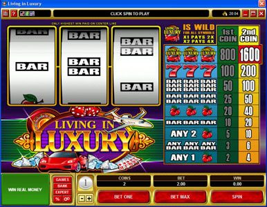 Play slots at 7Sultans: 7Sultans featuring the Video Slots Living in Luxury with a maximum payout of $8,000