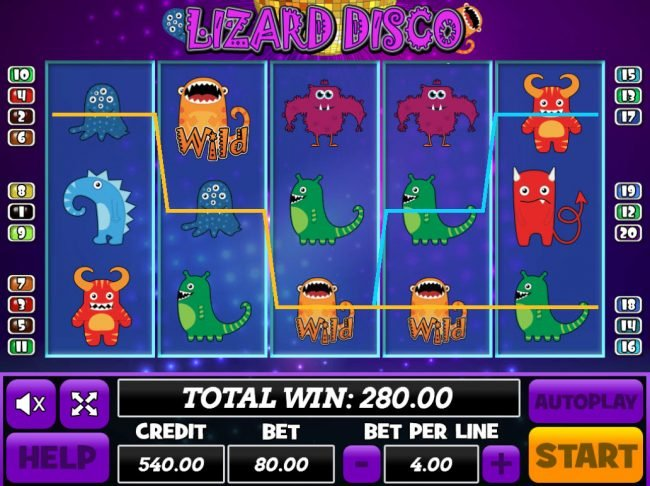 Play slots at Venetian: Venetian featuring the Video Slots Lizard Disco with a maximum payout of $24,000