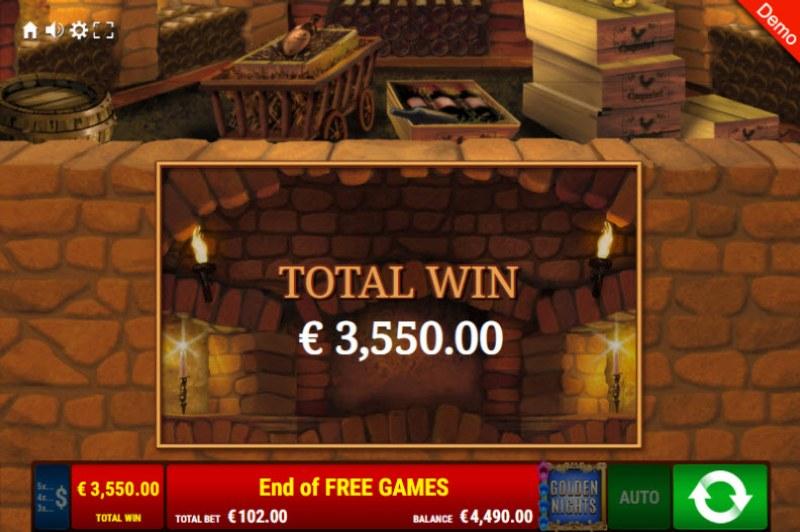 La Dolce Vita Golden Nights Bonus :: Total free spins payout
