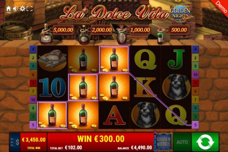 La Dolce Vita Golden Nights Bonus :: Multiple winning paylines