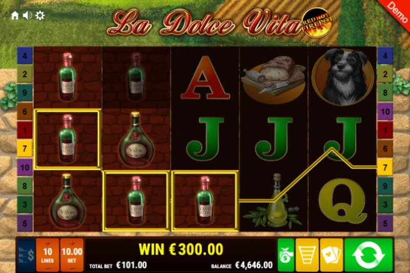 La Dolce Vita Red Hot Fire Pot :: Multiple winning paylines
