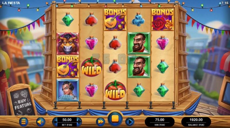 La Fiesta :: Scatter symbols triggers bonus feature
