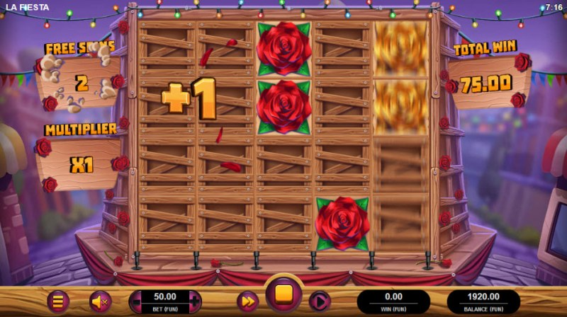 La Fiesta :: Bonus game board