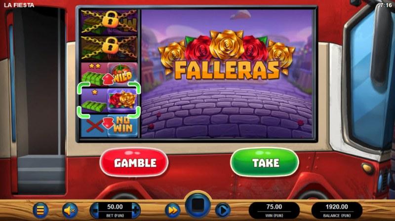 La Fiesta :: Bonus gamble feature