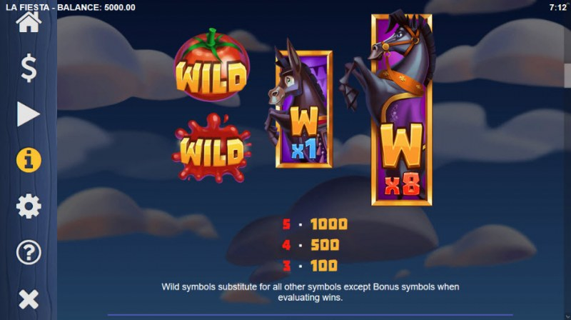 La Fiesta :: Wild Symbols Rules