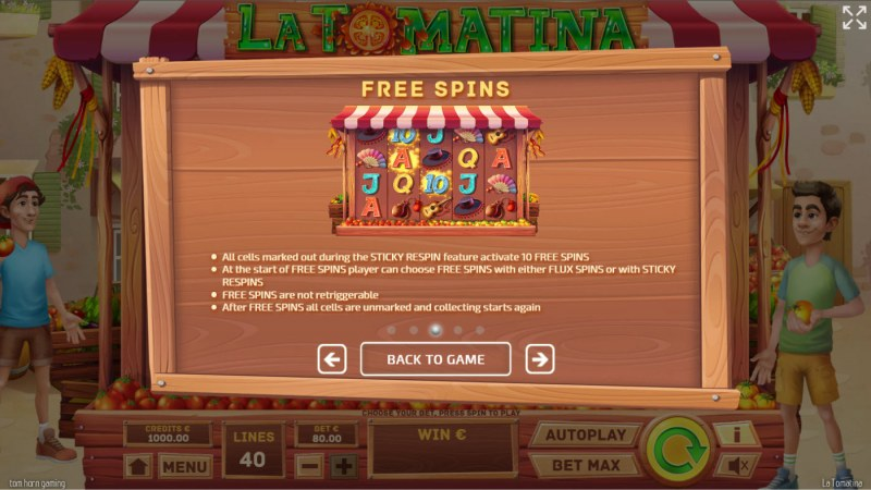 La Tomatina :: Free Spin Feature Rules
