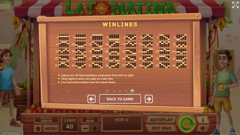 La Tomatina :: Paylines 1-40