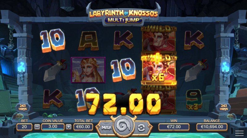 Labyrinth of Knossos :: A four of a kind win