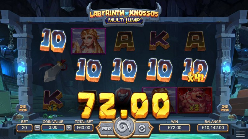 Labyrinth of Knossos :: A five of a kind win