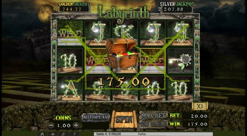 Labyrinth :: Multiple winning paylines