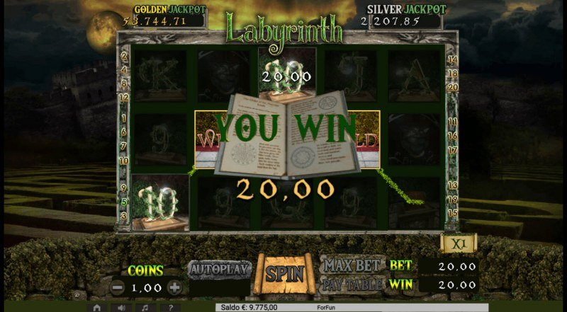 Labyrinth :: A four of a kind win