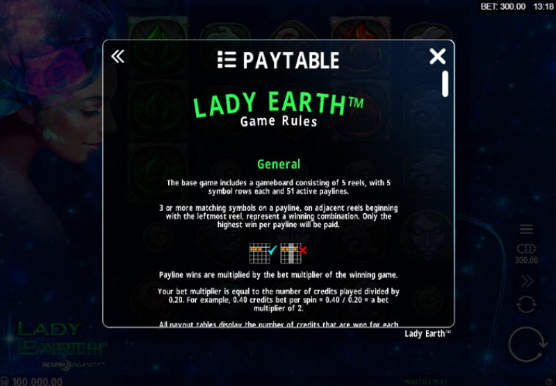 Lady Earth :: General Game Rules