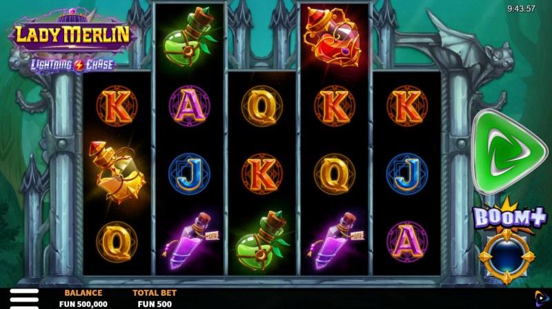 Lady Merlin Lightning Chase :: Base Game Screen