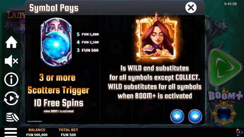 Lady Merlin Lightning Chase :: Wild and Scatter Rules