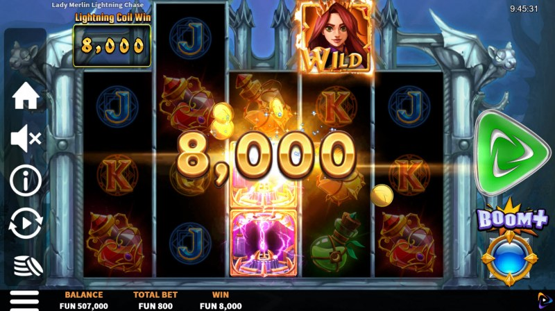 Lady Merlin Lightning Chase :: Big Win