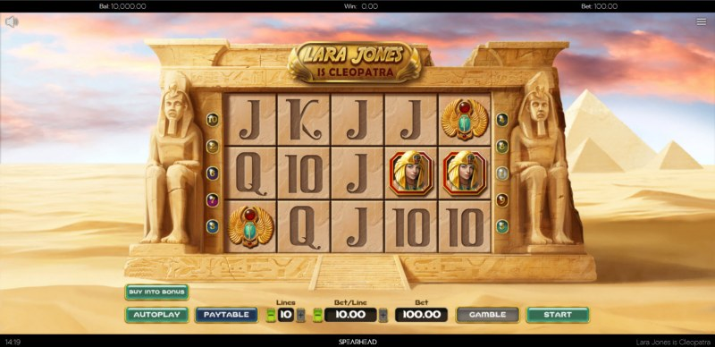 Lara Jones is Cleopatra :: Main Game Board