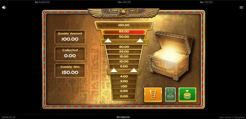 Lara Jones is Cleopatra :: Ladder gamble feature