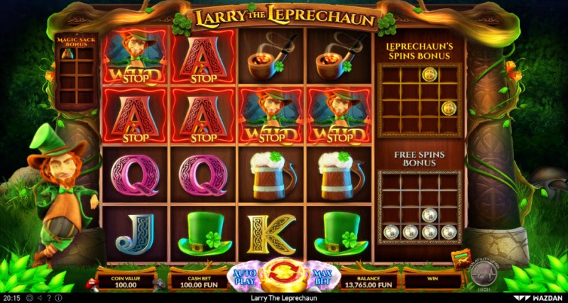 Larry the Leprechaun :: Multiple winning combinations