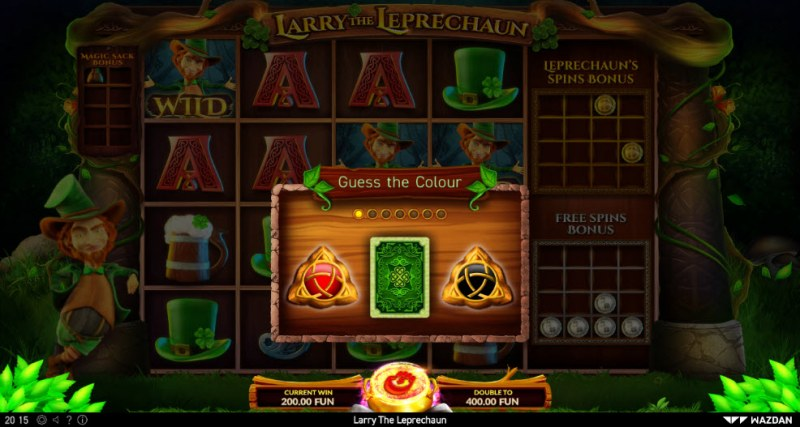 Larry the Leprechaun :: Black or Red Gamble Feature