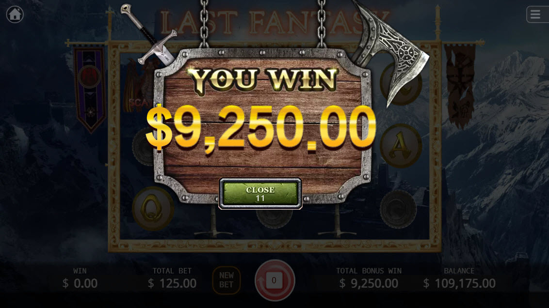 Last Fantasy :: Total free spins payout