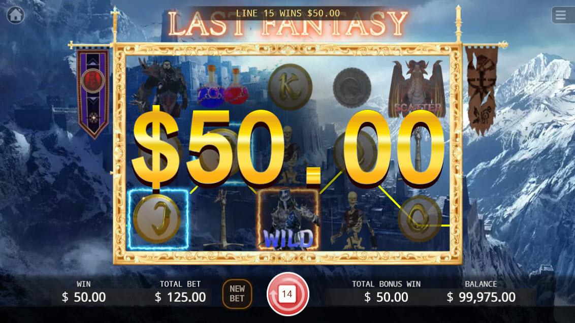 Last Fantasy :: Free Spins Game Board