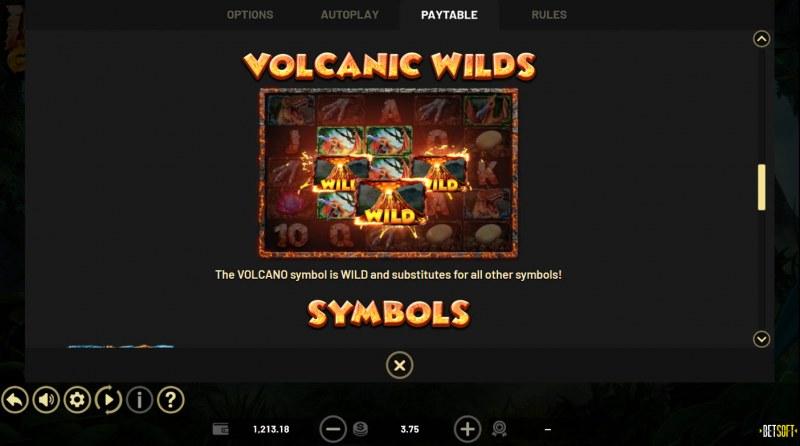 Lava Gold :: Wild Symbol Rules