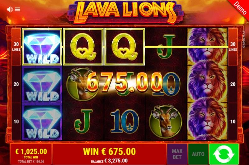 Lava Lions :: Multiple winning paylines