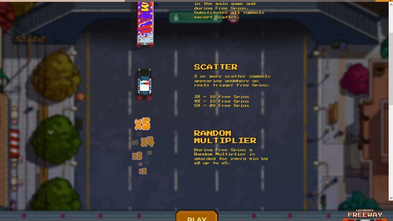 Lazy Bones Freeway :: Scatter Symbol Rules