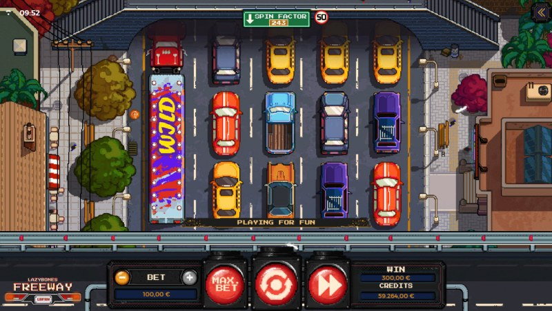 Lazy Bones Freeway :: Multiple winning combinations