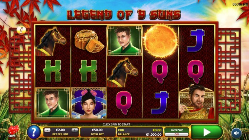 Play slots at Casino Planet: Casino Planet featuring the Video Slots Legend of 9 Suns with a maximum payout of $50,000