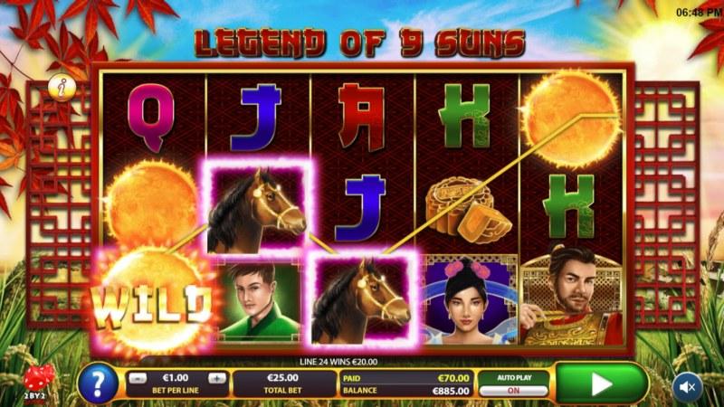 Legend of 9 Suns :: Multiple winning paylines