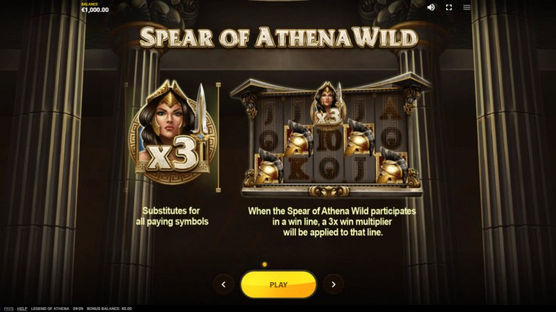Legend of Athena :: Spear of Athena Wild