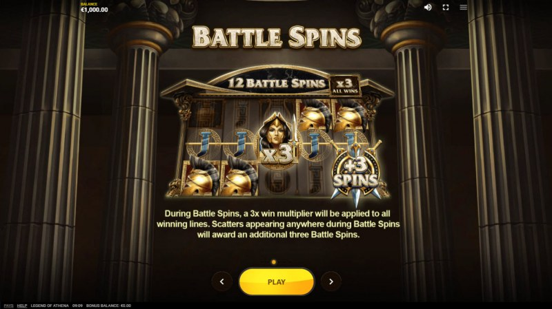 Legend of Athena :: Free Spin Feature Rules