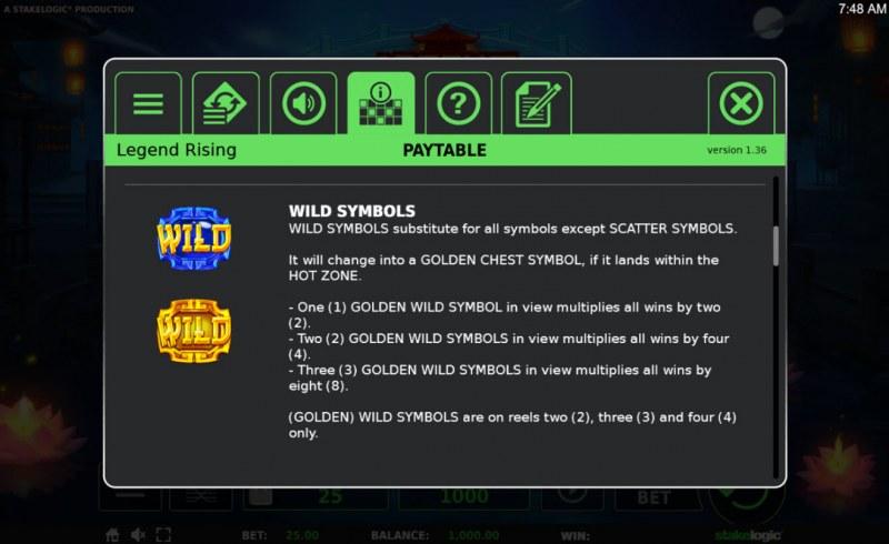 Legend Rising :: Wild Symbols Rules