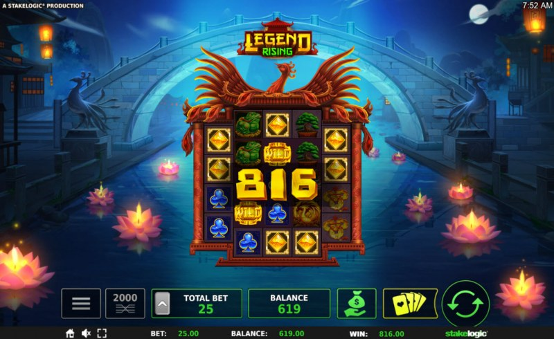 Legend Rising :: Multiple winning combinations leads to a big win